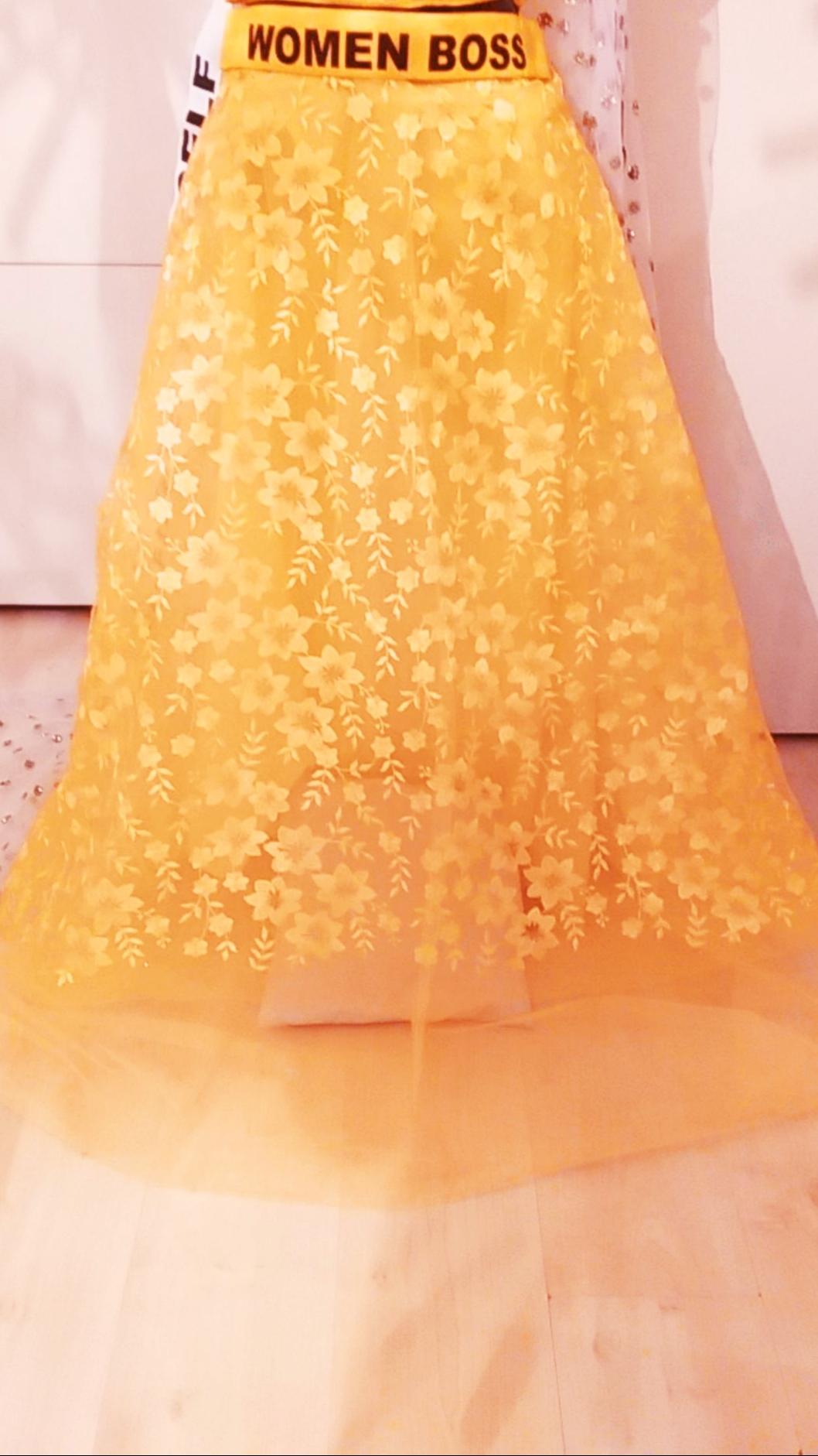 Gele lehenga gharara rok